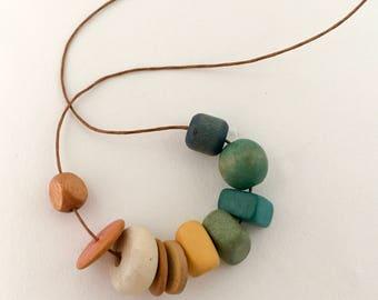 "Necklace, Bead Necklace ""Spring Creek"""