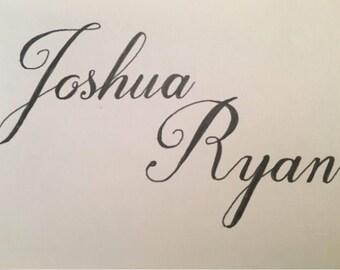 Custom Handlettered Names!