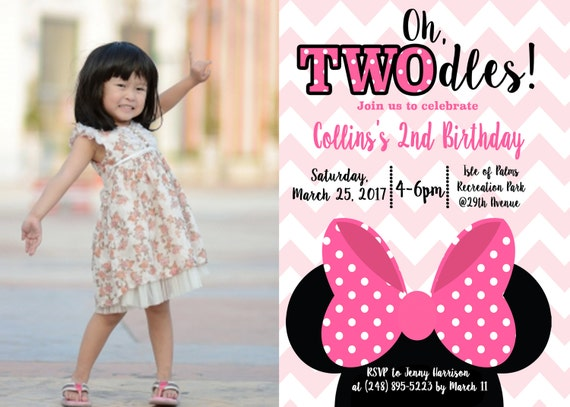 Minnie Mouse 2Nd Birthday Invitation Wording as perfect invitations ideas