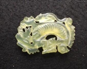 Vintage Natural Jade Medallion