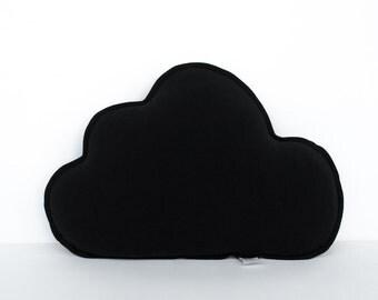 "Little cushion ""Cloud"", black pillow"