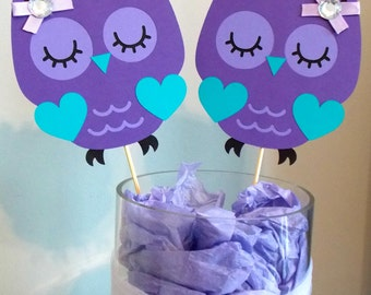Superb Purple Owl Centerpieces/ Owl Baby Shower/ Purple Owl Party/ Girl Owl  Birthday Party