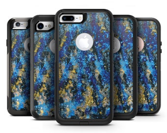 Abstract Blue Wet Paint - OtterBox Case Skin-Kit for the iPhone, Galaxy & More