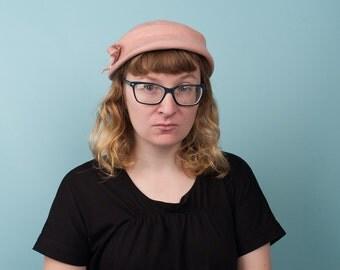 Vintage Pink Wool Hat