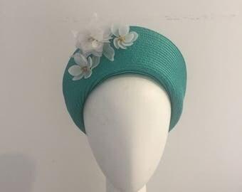 Halo, headpiece, races hat, races fascinator, ladies day hat, royal ascot hat, spring racing, modern fascinator