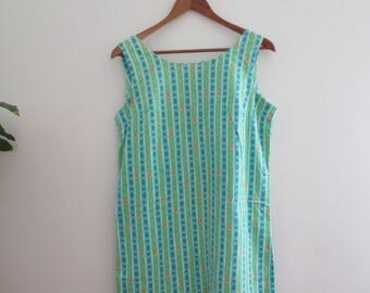 100% cotton retro dress