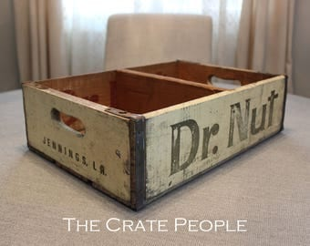 FREE SHIPPING - Dr. Nut Soda Pop Crate | Vintage Soda Crate | Soda Pop Crate | Vintage Crate | Dr. Nut Crate