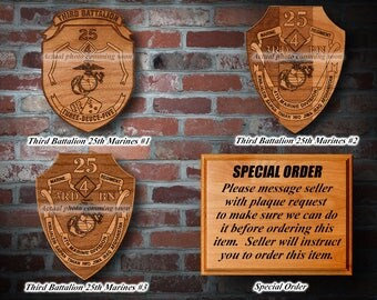 Wooden Military Plaques #1