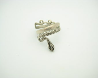 Sterling Silver Snake Ring Size 9