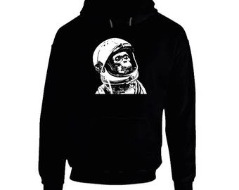 Space Monkey Asto Chimp Black Hoodie