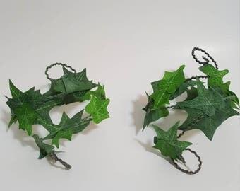 SET OF 2 Ivy Leaf Upper Arm Wraps, Leaf Arm Wraps, Upper Arm Jewelry, Ivy Leaf Costume, Fairy Costume Accessory, Cosplay Costume Accessory
