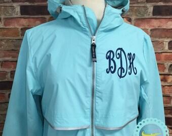 FREE SHIPPING - Rain Coat - Rain Jacket - Monogrammed Rain Coat - Monogrammed Rain Jacket - Monogram Rain Coat - Monogram Rain Jacket