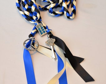 3 Charm Doctor Who Inspired Wedding  Hand Fasting/ Binding Cord ~ Tardis ~ Time Lord ~ Wedding Ceremony