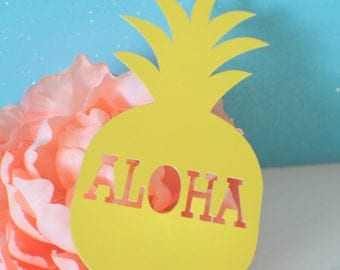 Pineapple cake topper, Hawaiian cake topper, luau cake topper, Luau party, Hawaii Party, Tropical cake topper, Aloha cake topper