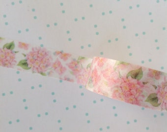 Pink Floral Shabby Chic Washi Tape
