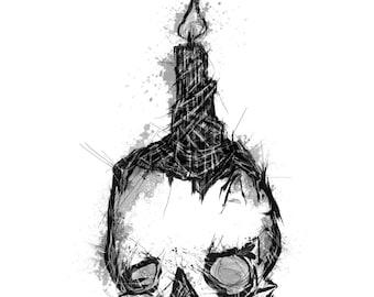 Death Celebration A4 Print