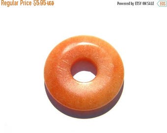 HALF PRICE Peach Aventurine Donut Bead - 30mm - Focal Bead Statement Bead