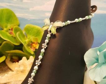 Envious butterflies Barefoot Sandals. wedding, bridal, Beach, All Occasions