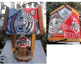 Ohio State Two-Sided Cedar Bird Feeder (SI Series)