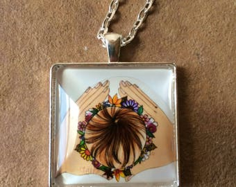 CROWN Necklace/ birth art/ mom/ gift for mom/ goddess/ women/ midwife/ doula