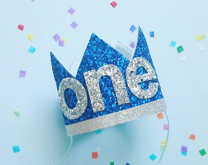 Glittery Birthday Crown | Birthday Crown | 1st Birthday | Birthday | Birthday | Baby Birthday |  Birthday Crown Headband | Ready to  Ship