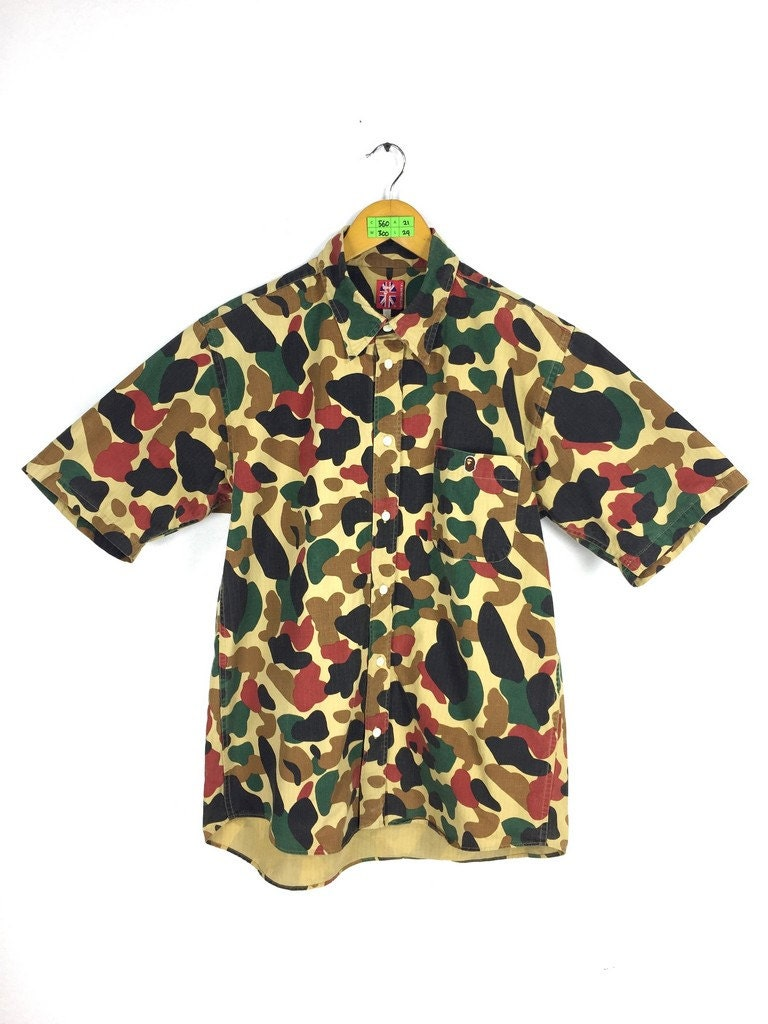 a bathing ape camo t shirt