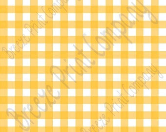 Yellow and white buffalo check craft vinyl pattern sheet - HTV or Adhesive Vinyl -   htv3410