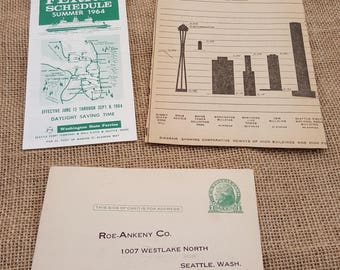 Seattle Ephemera from the 1960s, 1970s, 1920s...  Seattle Election Pamphlet and ballots, tickets to museum, ferry pass...