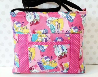 Beauty and The Beast Comic Small Cross Body Bag / Princess Belle / Pink