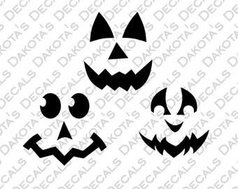 Pumpkin Faces SVG for Download