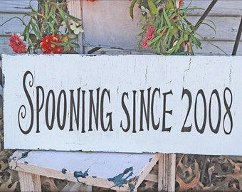 Spooning Since... your custom date - Reusable STENCILS- 11 Sizes Available- Create your own Signs and Save!