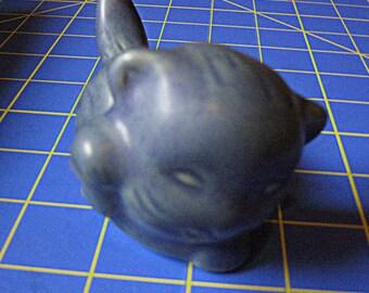 Van Briggle Darker Blue Kitten Cat Kitty