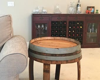 Repurposed Wine Barrel Side Tables