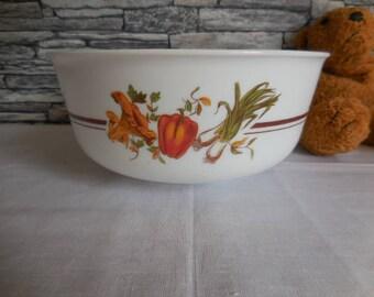 Arcopal milk glass bowl