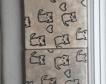 2 piece Kitty Bubbles coaster set