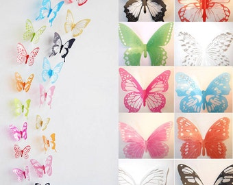 Beautiful Butterfly Set Wall Decor