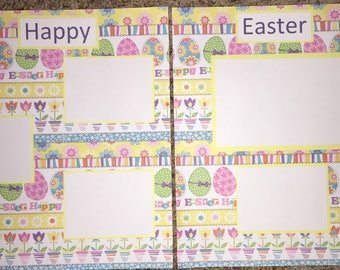 12x12 premade scrapbook page~ Happy Easter~ Holiday