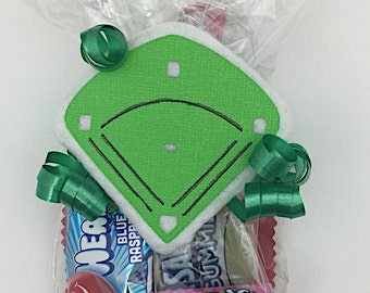 Baseball Baby Shower - Baseball Birthday Party - Baseball First Birthday - Baseball Party Favor - Baseball Candy - Baseball Field Tag