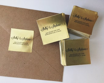 Gold Address Sticker