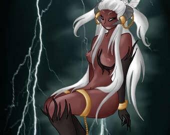 Lightning Demon | NSFW | Art Print