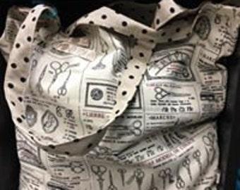 Sewing Print Tote Bag