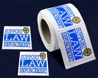 250 Support Law Enforcement Stickers (250 Stickers) (ST-01-FRB)