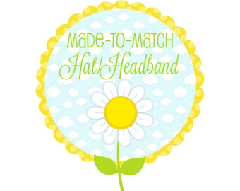 Personalized Baby Hat or Headband to Match Blanket - Knotted Beanie Hat or Head Wrap - Custom Name Infant Hat or Headband - Made to Match
