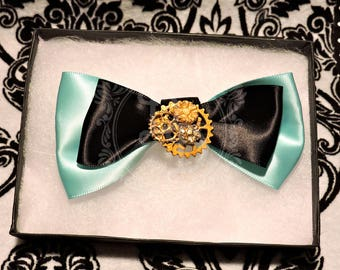 Tiffany & Steampunk bow clip