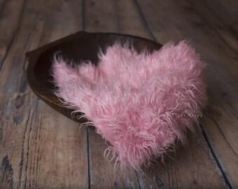 Newborn Basket Stuffer - Ready to Ship Faux fur stuffer - Pink