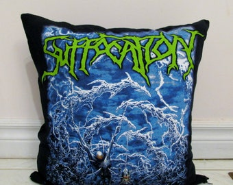 Suffocation Pillow DIY Death Metal Decor - Pierced From Within (Cover or Full Pillow)