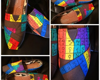 WOMENS Custom painted Periodic Table Toms. Designed and personalized just for you!
