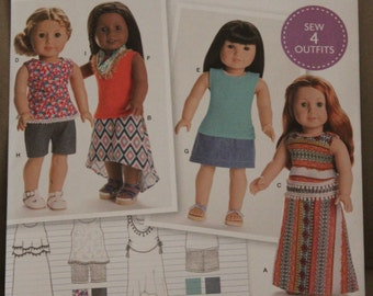 18 inch Doll clothes Pattern Simplicity 8040 fits most 18 inch Dolls