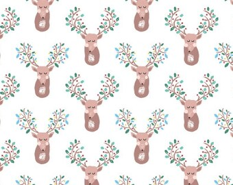 Pine Grove - Sleeping Deer(White Background) - Dear Stella Designs