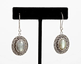 Labradorite 085 - Earrings - Sterling Silver